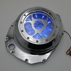 Blue LED See through Engine Clutch Cover For Suzuki GSX1300R Hayabusa B-king Chr