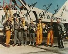 MERCURY 7 astronauts signed 8x10 photo Zarelli COA NASA signed by 6