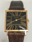 Piaget 18 k solid gold mint condition mens square watch