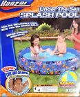 Banzai Under the Sea Inflatable Splash Kiddie Pool with Bonus Beach Ball AGES 3+