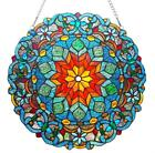 Stained Glass Chloe Lighting Round Window Panel 21 Inches Handcrafted New