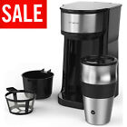 Single Cup Coffee Maker One Serve Automatic Brew Machine Drip with Personal Mug