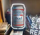 NEON LIGHT BUDWEISER BUD CAN BEER BAR CLUB MILLER POSTER IPHONE CORONA SIGN