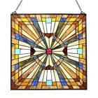 Stained Glass Chloe Lighting Mission Window Panel CH1P004AM24 GPN 24 Inches New