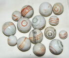Marbles: Lot Of 10 ANTIQUE Handmade Glazed CHINAS, ALL MINT, 17/32