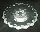Vintage Indiana Glass TEARDROP Clear Low Cake Stand 13 3/4