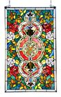 Stained Glass Chloe Lighting Victorian Roses Window Panel 20 X 32 Handcrafted