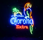 LED Neon Light Corona Extra Parrot Beer Bar Party Poster Handmade Sign Pub Room