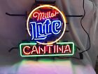 NEON Light Miller Lite CANTINA Beer Bar Room Home Party Wall Poster Real Sign