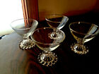 BERWICK BOOPIE DEPRESSION CLEAR SHERBET GLASSES ANCHOR HOCKING 3 5/8
