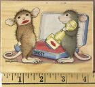 Stampabilities House Mouse Wooden Rubber Stamp Lip Stamp HMJR1003