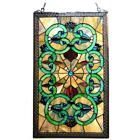 Stained Glass Chloe Lighting Victorian Window Panel CH1P143AV28 GPN 17 X 28 New