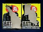 1989 Topps Batman 2nd Series Trading Cards Boxes 2 Box Lot 36 Packs Each