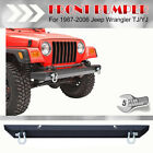 Rock Crawler Offroad Front Bumper D Ring For 87 06 Jeep Wrangler TJ YJ