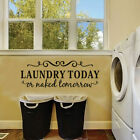 Laundry Room Saying Quote Wall Sticker Dry Cleaner Wall Art Decals Vinyl Decor