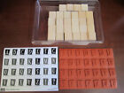 Stampin Up RETRO ALPHABET UPPER NEW Set of 28 Rubber Stamps Unmounted