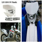 12V 35W White Hi/Lo Beam Motocross Motorcycle Headlight Fairing w/Rubber Strips