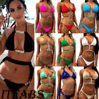 Women Rhinestone Crystal Diamond Push-up Bikini Set Bath Swimsuit Swimwear Beach