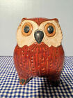 Lladro 01012535 Small Owl (Red) Gres NEW