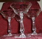 Tiffin CRYSTAL CUT GLASS Wine Champagne FANCY TALL knob STEM BERRY 3 Available