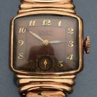 "1943 GRUEN VERI-THIN ""BANNER"" ROSE GOLD & STERLING MEN'S WATCH W/ORIGINAL BAND"