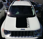 Solid Jeep Renegade Hood Logo Graphic Vinyl Decal Sticker Reflective Cast SUV