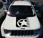 Solid Jeep Renegade Army Star Hood Logo Graphic Vinyl Decal Sticker Cast SUV
