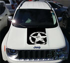 Jeep Renegade Hood Army Star Distressed Graphic Vinyl Decal Sticker Reflective