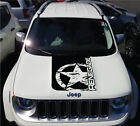 Solid Jeep Renegade Distressed Army Star Hood Logo Graphic Vinyl Decal Sticker