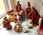 LARGE KURT ADLER NATIVITY SET OF 10