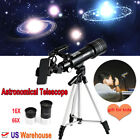 400x70mm Refractor Astronomical Telescope 6X 66X Magnification Kids Student Gift