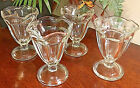 ANCHOR HOCKING Qty of (4) Vintage Tulip Glass Ice Cream Sundae Dessert Dish Set!