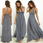 US STOCK Women Summer Beach Boho Maxi dress Evening Party Cocktail Long Sundress
