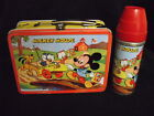 1954 Mickey Mouse Lunch Box  Excellent Thermos  Vintage  Very Rare  Lunchbox