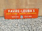 1940s Vintage Old Favre Leuba Zenith Eterna Sandow Watches Sold Here Enamel Sign