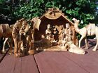 Olive Wood Nativity Creche Set from Bethlehem