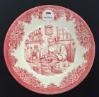 RED Toile 4pc Cereal Soup BOWLS Santa Toys Trains ROYAL STAFFORD Holiday NEW