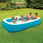 Inflatable Family Swimming Pool 10 Deluxe Kid Outdoor Swim Play Backyard Lounge
