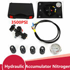 Protable Hydraulic Accumulator Nitrogen charging Filling Kit Gas Valve test Set