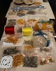 WHOLESALE LOT Jewelry making findings beads chains glass pearl gemstone 55 bags