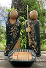 Unique Wood Carved Nativity Set Handmade In Nicaragua 12 Tall