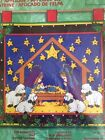 Bucilla THE BRIGHTEST STAR Nativity ADVENT CALENDAR Felt Applique Kit 84407