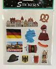 1 sheet 12 stickers German themed travel stickers cards journals planner DIY
