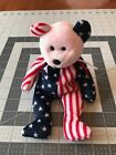 Spangle T Y Beanie Babies 1999 no heart tag, mint condition PINK FACE - RARE!