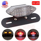 Clear 16LED Motorcycle Turn Signal Brake License Plate Integrated Tail Light 12V