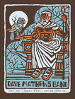 2013 DAVE MATTHEWS BAND HARTFORD STAINED GLASS STATUE CONCERT POSTER 6 7 CT S N