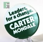 Leaders. For A Change Carter Mondale Political Election Campaign Button Pin