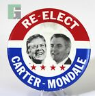 Re-Elect Carter-Mondale Presidential Political Campaign Button