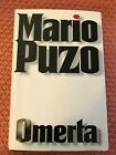 LOOK Omerta by Mario Puzo First Edition HC DJ PLUS 8 PHOTO PAGES MAFIA CRIME