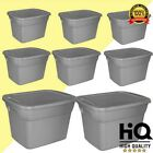 8 Plastic Tote Box 18 Gallon Steel Stackable Storage Bin Container with Lid Set